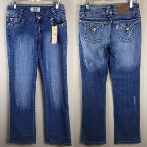 TELL embellished rhinestone jeans - NWT!